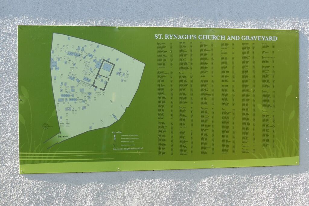 A - Z Panel of Graves in the historical St. Ryanagh's Graveyard