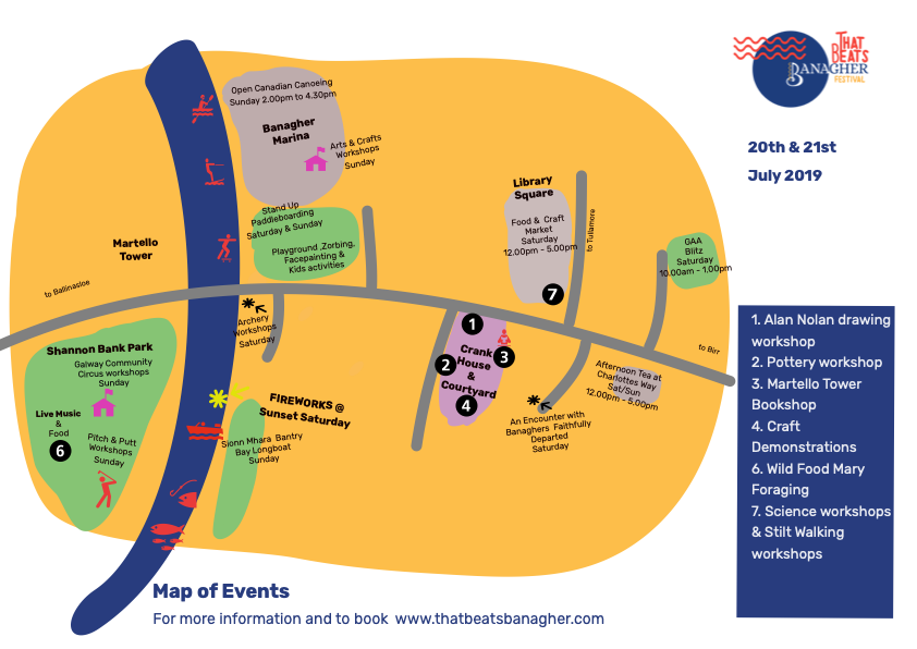 Banagher Festival Map 2019
